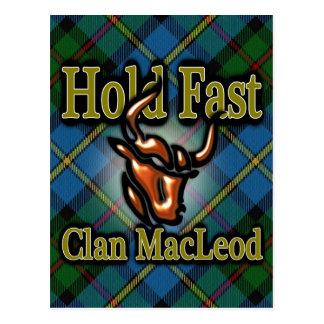 El asimiento escocés de MacLeod del clan ayuna Tarjetas Postales