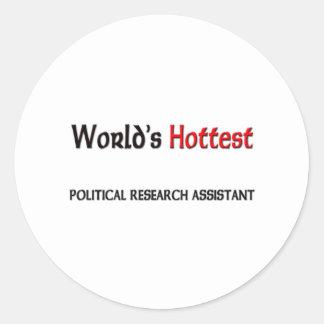 El asistente de investigación político más etiqueta redonda