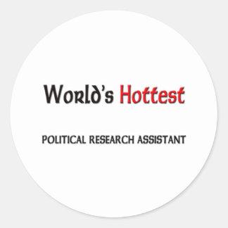 El asistente de investigación político más pegatina redonda