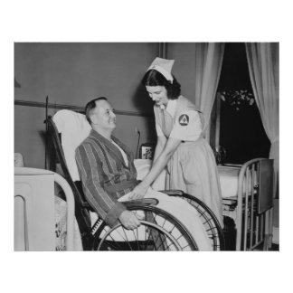 El asistente de la enfermera de la Cruz Roja: 1940 Poster