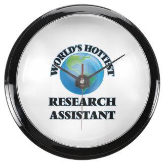 El asistente de la investigación más caliente del reloj aqua clock
