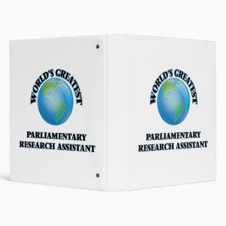 El asistente de la investigación parlamentario más