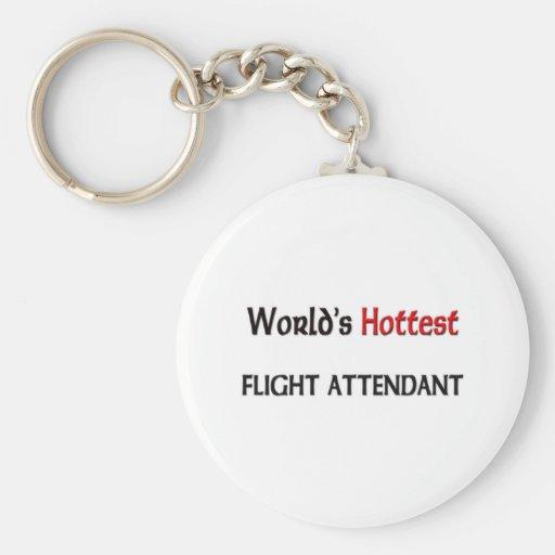 El asistente de vuelo más caliente de los mundos llavero redondo tipo pin