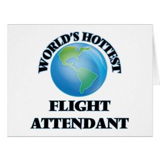 El asistente del vuelo más caliente del mundo tarjeta