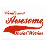 El asistente social más impresionante del mundo tarjetas postales