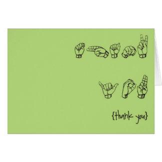 El ASL le agradece las tarjetas