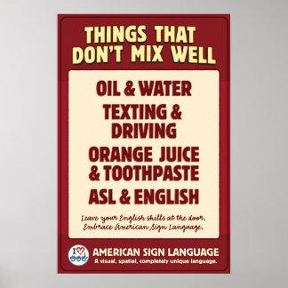 El ASL y los ingleses no se mezclan Póster