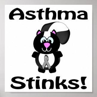 El asma apesta diseño de la conciencia de la mofet póster