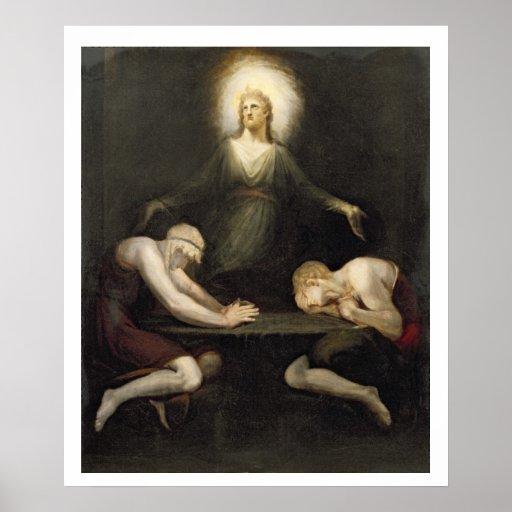 El aspecto de Cristo en Emmaus, 1792 (aceite en c Póster
