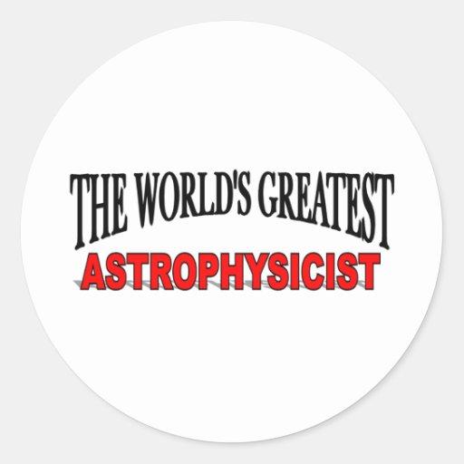 El astrofísico más grande del mundo pegatina redonda