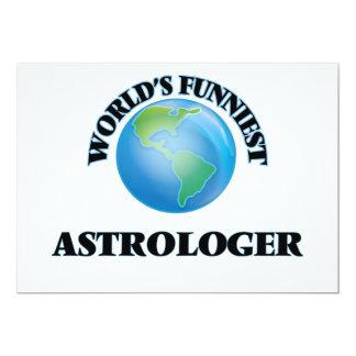 El astrólogo más divertido del mundo invitación 12,7 x 17,8 cm