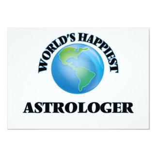 El astrólogo más feliz del mundo invitación 12,7 x 17,8 cm