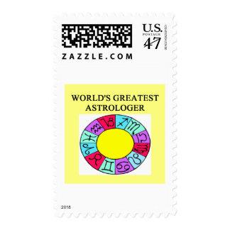 el astrólogo más grande de los mundos sello postal