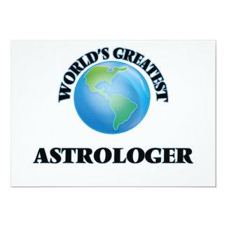 El astrólogo más grande del mundo invitación 12,7 x 17,8 cm