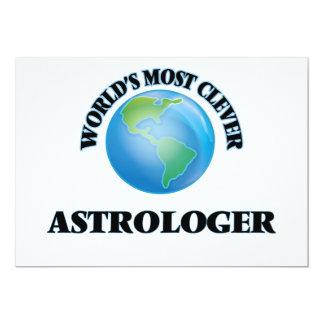 El astrólogo más listo del mundo invitación 12,7 x 17,8 cm
