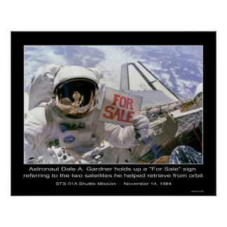 """El astronauta Dale A. Gardner soporta """"para la mue Póster"""