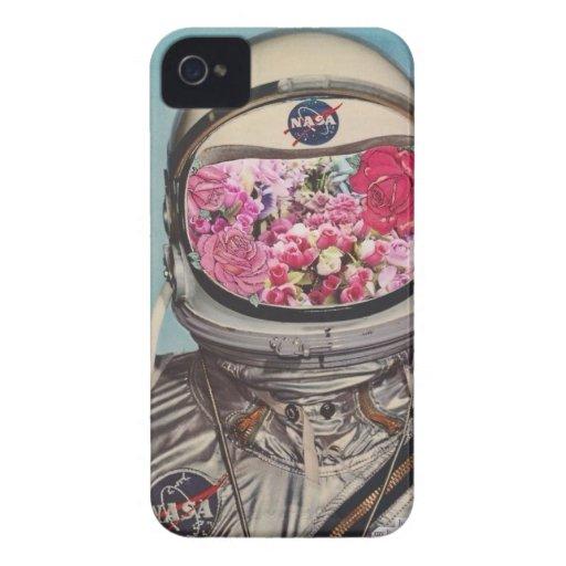 El astronauta del aficionado a la jardinería iPhone 4 carcasas