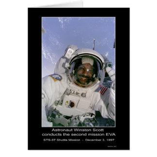 El astronauta Scott conduce la segunda misión EVA Tarjeta De Felicitación