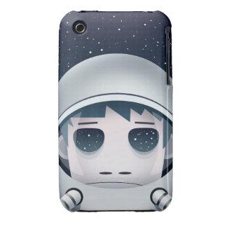 El astronauta solo en espacio iPhone 3 Case-Mate carcasa