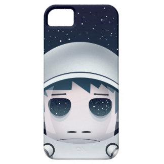 El astronauta solo en espacio iPhone 5 carcasa