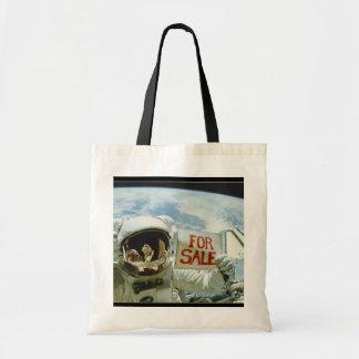 El astronauta vende la tierra bolsa tela barata