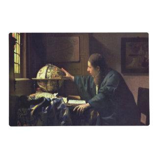 El astrónomo de Juan Vermeer Salvamanteles