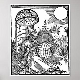 El astrónomo póster