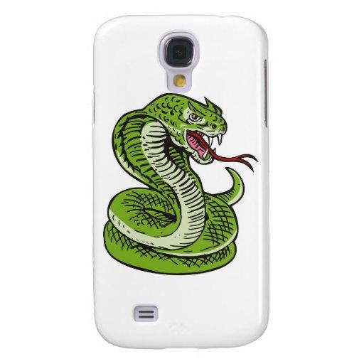 el atacar enojado de la serpiente de la cobra real funda para galaxy s4