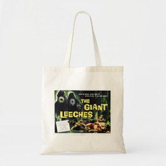 "El ""ataque del gigante Leeches"" el bolso Bolsa Tela Barata"