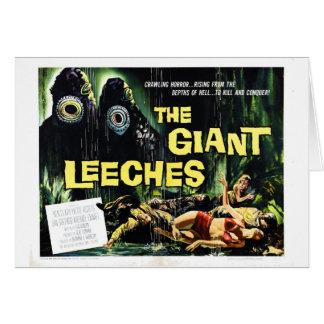 """El """"ataque del gigante Leeches"""" la tarjeta"""