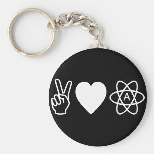 El ateísmo del amor de la paz llaveros personalizados