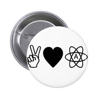 El ateísmo del amor de la paz pins