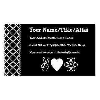 El ateísmo del amor de la paz tarjetas de visita