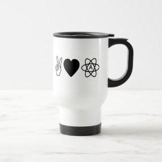 El ateísmo del amor de la paz taza térmica