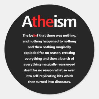 El ateísmo es una mentira pegatina redonda