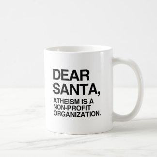 EL ATEÍSMO ES UNA ORGANIZACIÓN NO LUCRATIVA - .PNG TAZAS DE CAFÉ