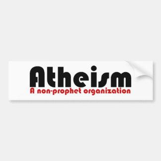 El ateísmo etiqueta de parachoque