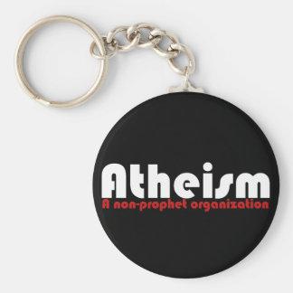 El ateísmo llavero redondo tipo pin