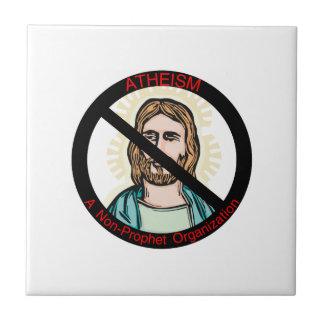 El ateísmo no una organización del profeta azulejo cuadrado pequeño