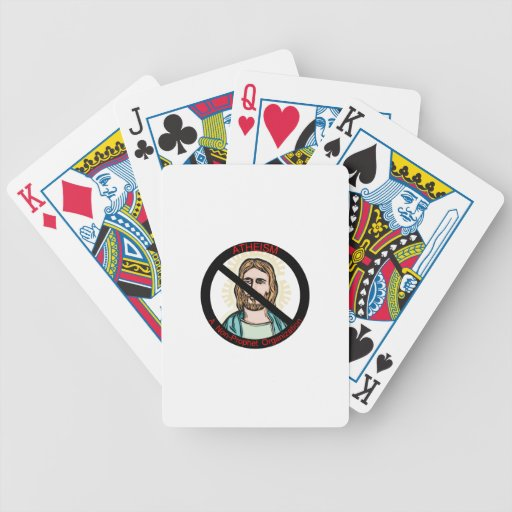 El ateísmo no una organización del profeta baraja cartas de poker