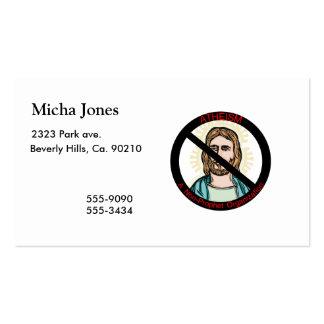 El ateísmo no una organización del profeta plantillas de tarjeta de negocio