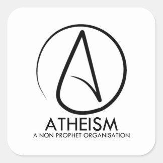 El ateísmo pegatina cuadrada