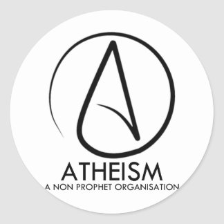 El ateísmo pegatina redonda