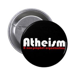 El ateísmo pin redondo de 2 pulgadas