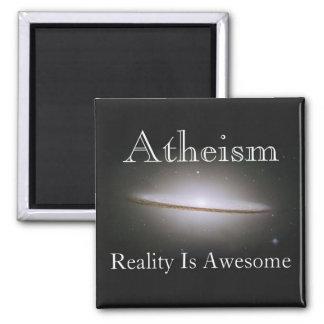 el ateísmo, realidad es impresionante imán cuadrado