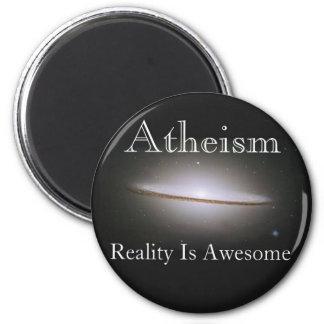 el ateísmo, realidad es impresionante imán redondo 5 cm