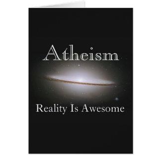 el ateísmo, realidad es impresionante tarjeta de felicitación