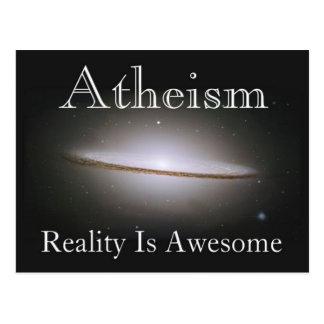 el ateísmo, realidad es impresionante tarjeta postal