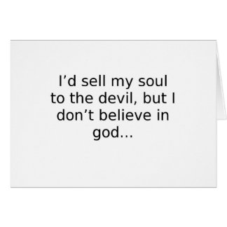 El ateísmo tarjeta de felicitación