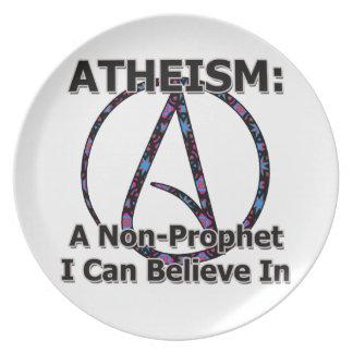 El ateísmo: Un No-Profeta que puedo creer adentro Platos Para Fiestas
